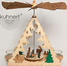 tealight pyramid with forest animals