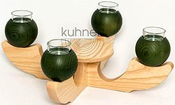 candle holder, 4-armed, green