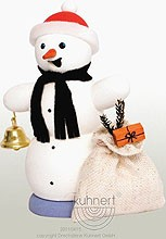 incense smoker, snowman with bag of presents