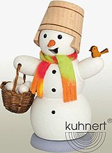 incene smoker, snowman with snowball basket