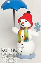 incense smoker, snowman with umbrella