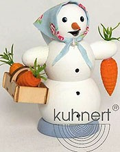 incense smoker, snowwoman with carrot basket