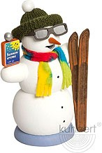 incense smoker, snowman Apre´s Ski