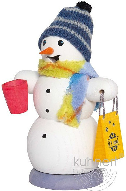 incense smoker, snowman with mulled wine cup