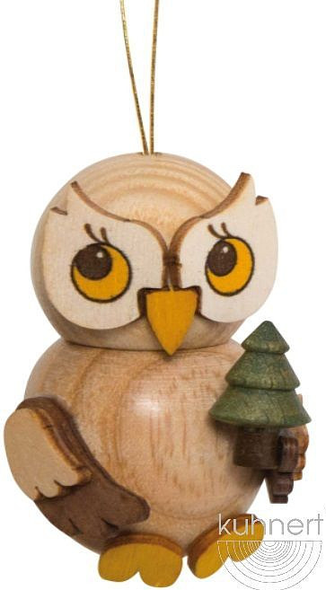 tree ornament, little owl with tree