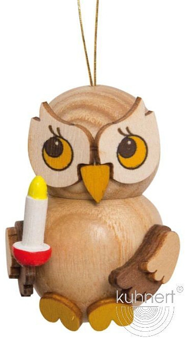 tree ornament, little owl with candle