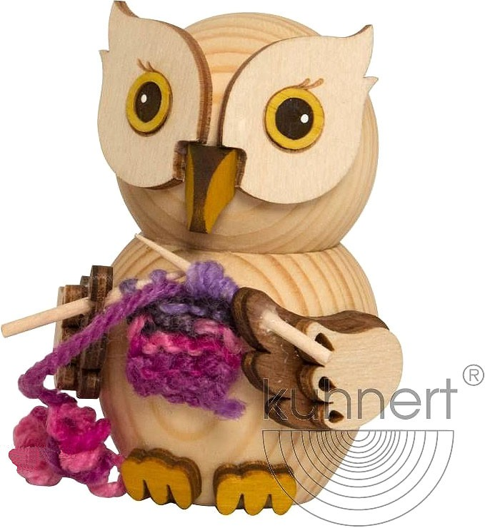 mini owl - knitting