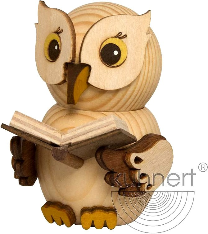 mini owl - with book