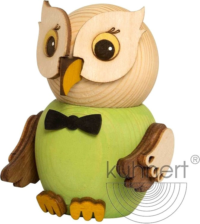 mini owl - green