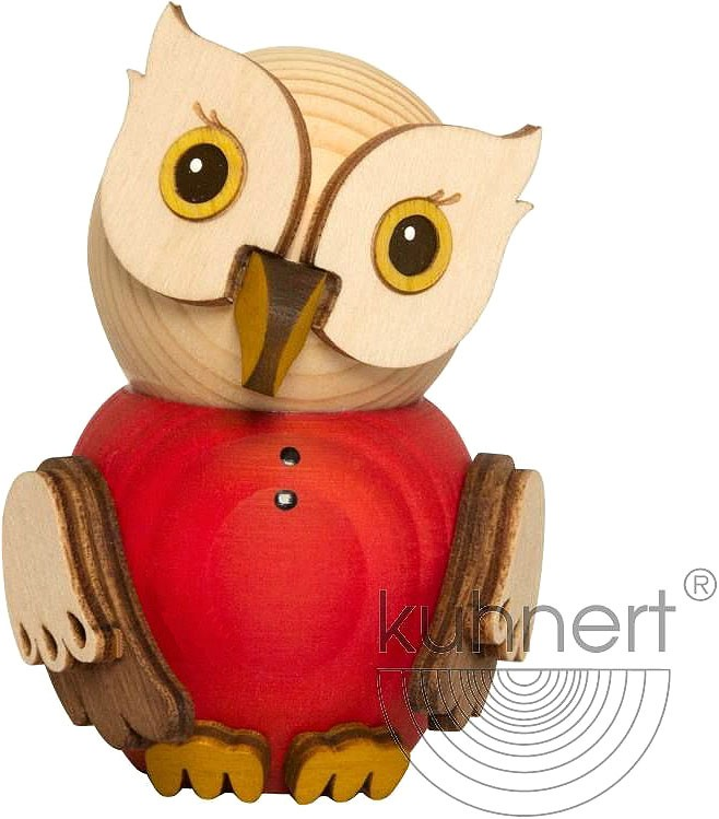 mini owl - red