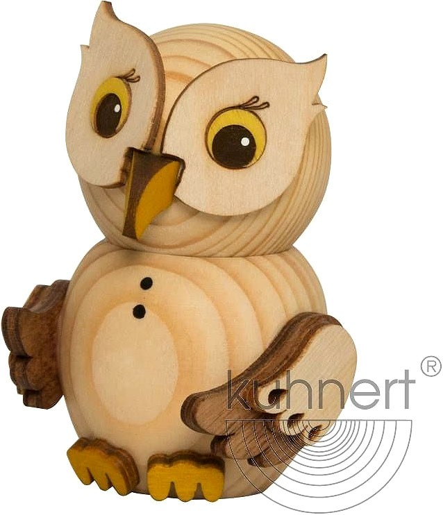 mini owl - natural wood