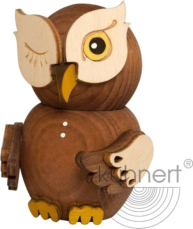 mini owl - stained wood