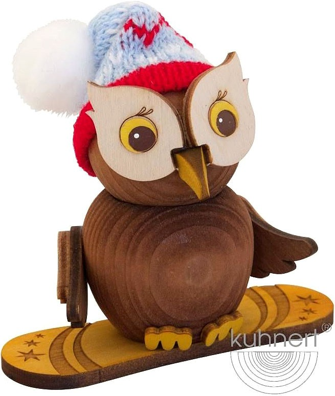 mini owl- with snowboard