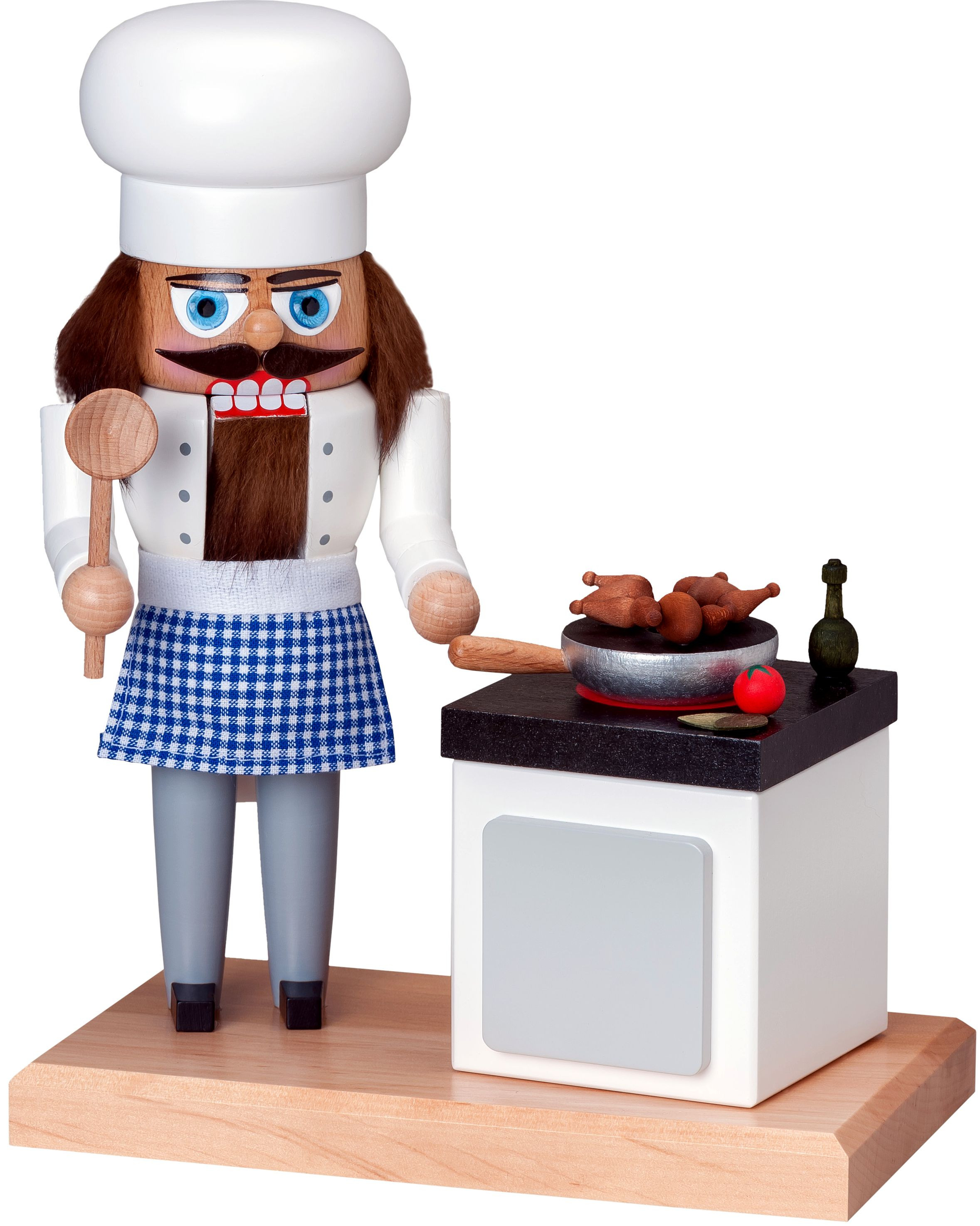 Nutcracker cook with stove