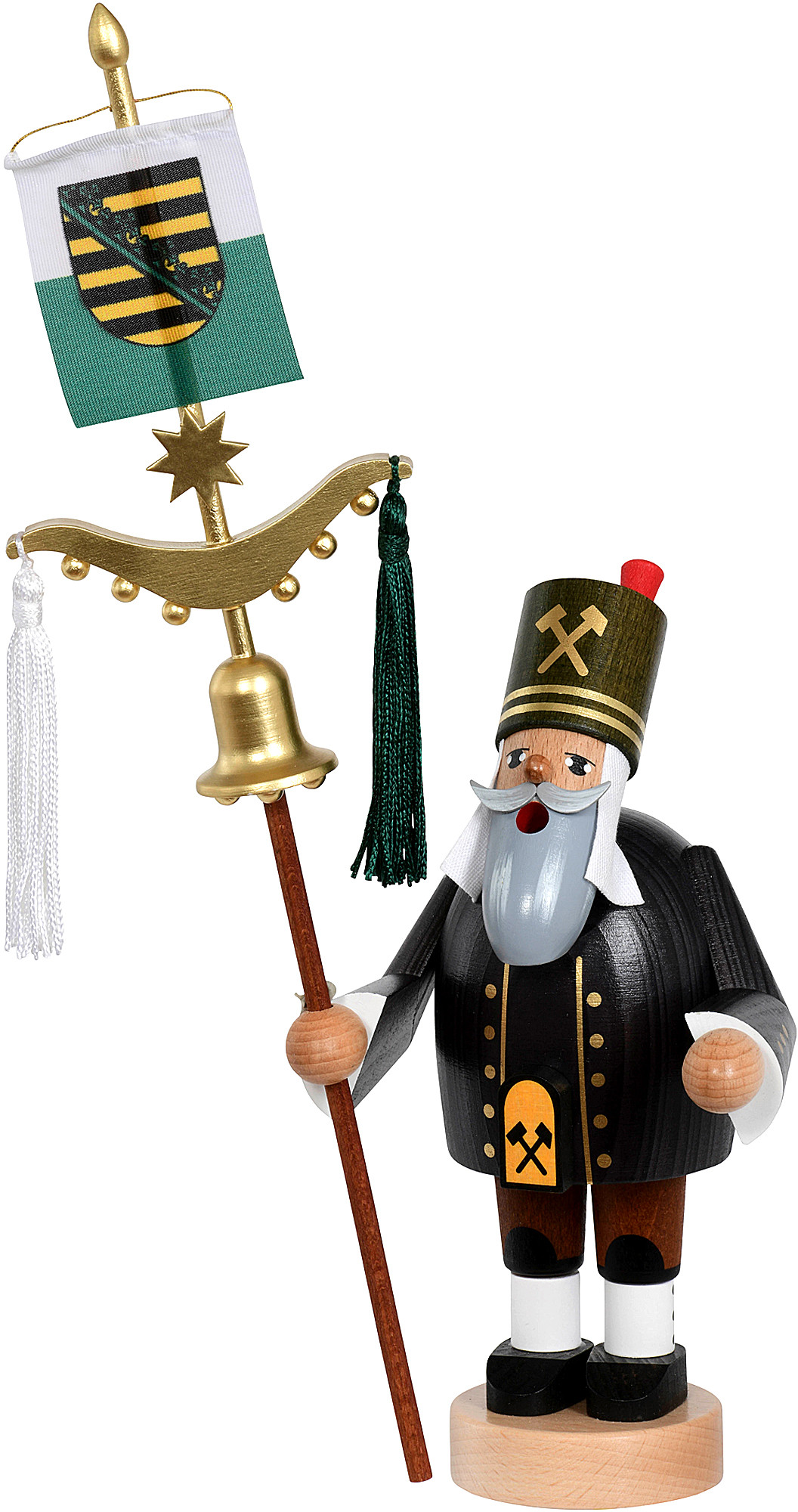 incense smoker, miner with Turkish crescent - The Bearded Men