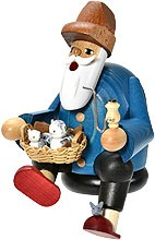 incense smoker, edge stool cat lover -the bearded men-