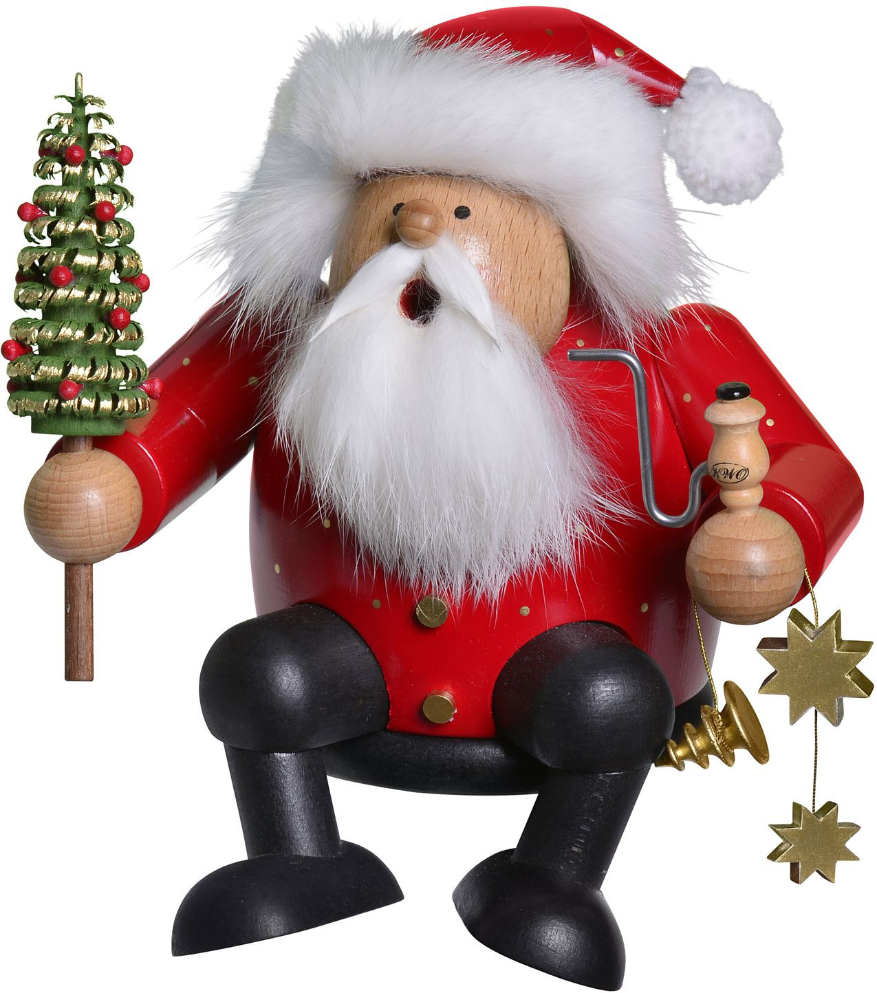 incense smoker edge stool santa