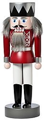 nutcracker king, red