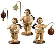 Lampion angel 3-pieces star, ball and oval / natural