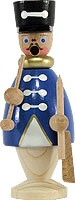 miniature incense smoker, hussar - blue
