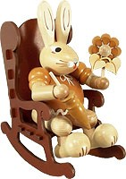 female hare in the rocking chair