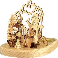 tealight holder Santa Claus