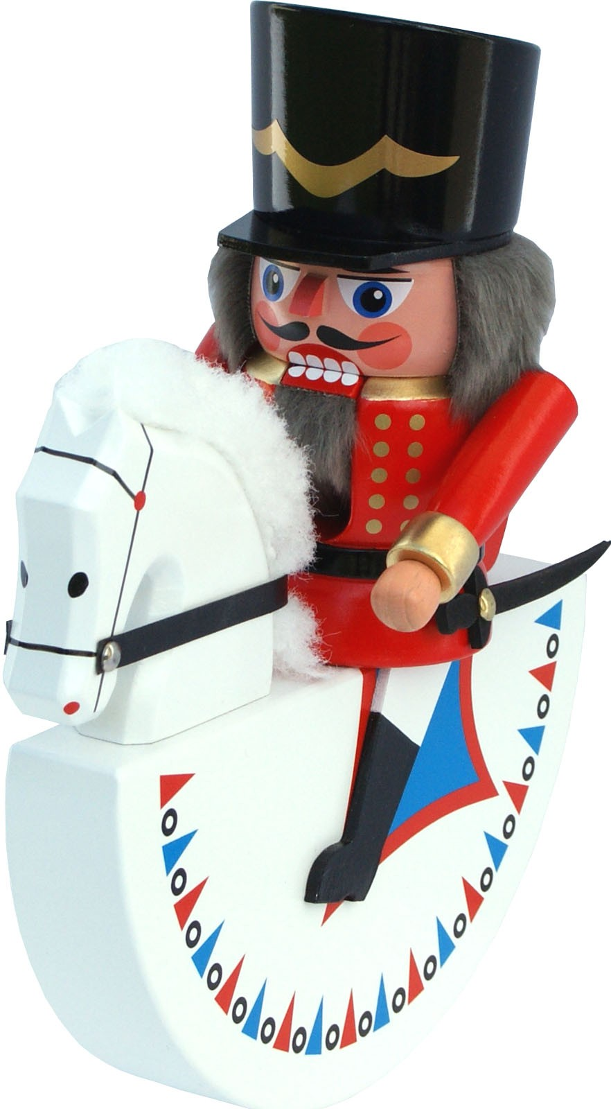 Original Olbernhauer rider - hussar, Nutcracker, red, small