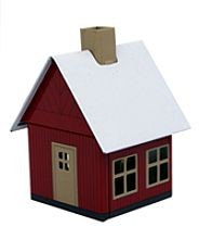 incense smoking house - forester´s house, red brown