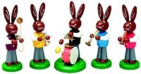 Easter Rabbit band, 5 pieces, colored