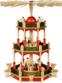 2-storeyed pyramid, Nativity - red