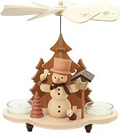 tealight pyramid, snowman