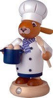 Incense smoker Rabbit cook colored, large