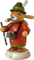 Incense smoker Rabbit sightseer colored, large