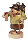 incense smoker, woman with wood basket - the thicknesses-
