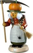 incense smoker, Halloween witch with pumpkin, large