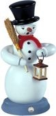 incense smoker, snowman, coloured, large