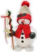 incense smoker, snowman red