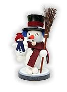incense smoker, snowman snowy