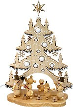 3d light arch fir tree small, with snowmen