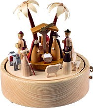 musical box Nativity 36 polyphonic plaything, new natural wood design