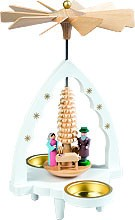 tealight pyramid Nativity