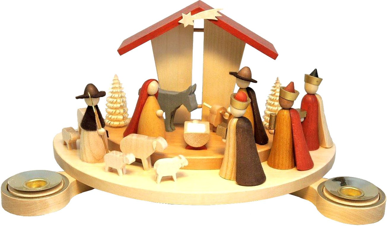 candleholder, Nativity - new figures design