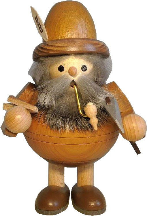 spheric incense smoker, wood gnome woodmaker, standing