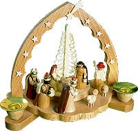 candle holder nativity