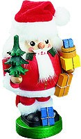 nutcracker Santa with packages