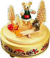 music box bear seesaw