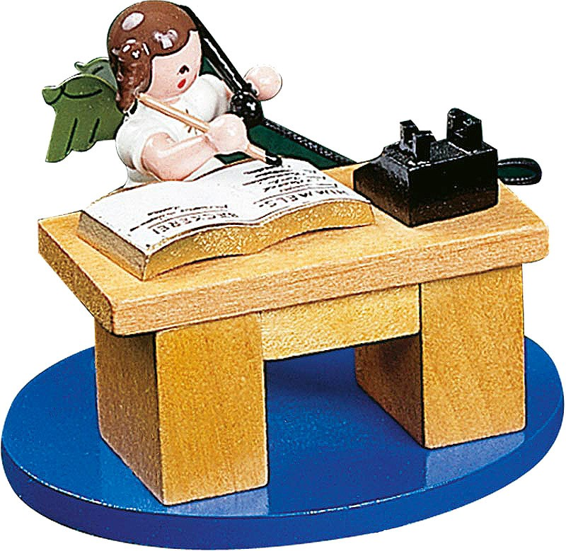 angel on desk