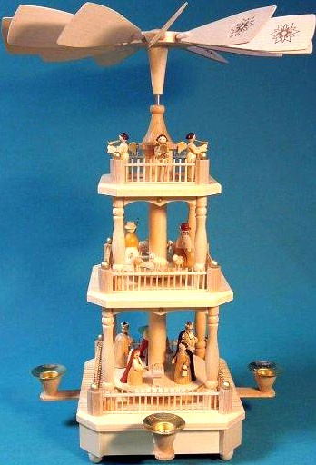 pyramid Nativity, 2-storeyed - natural