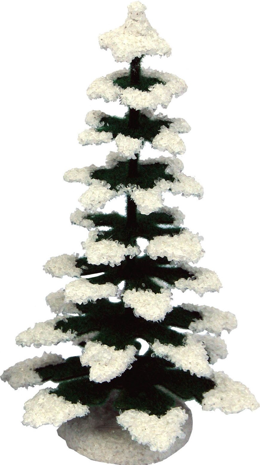 Christmas tree, green/white - 4.33 inches