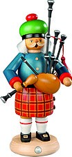 incense smoker, scotsman with bagpipe